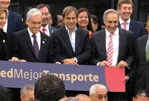 President Piñera announces that 80% of buses will be new and RED standard by 2022