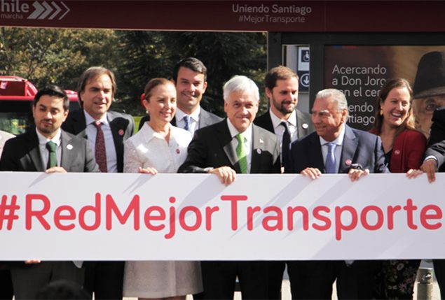 """President Piñera presented """"Red"""" the identity that will define the new public transport of the main cities of the country"""
