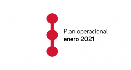 Image with route icon and text of Operational Plan January 2021
